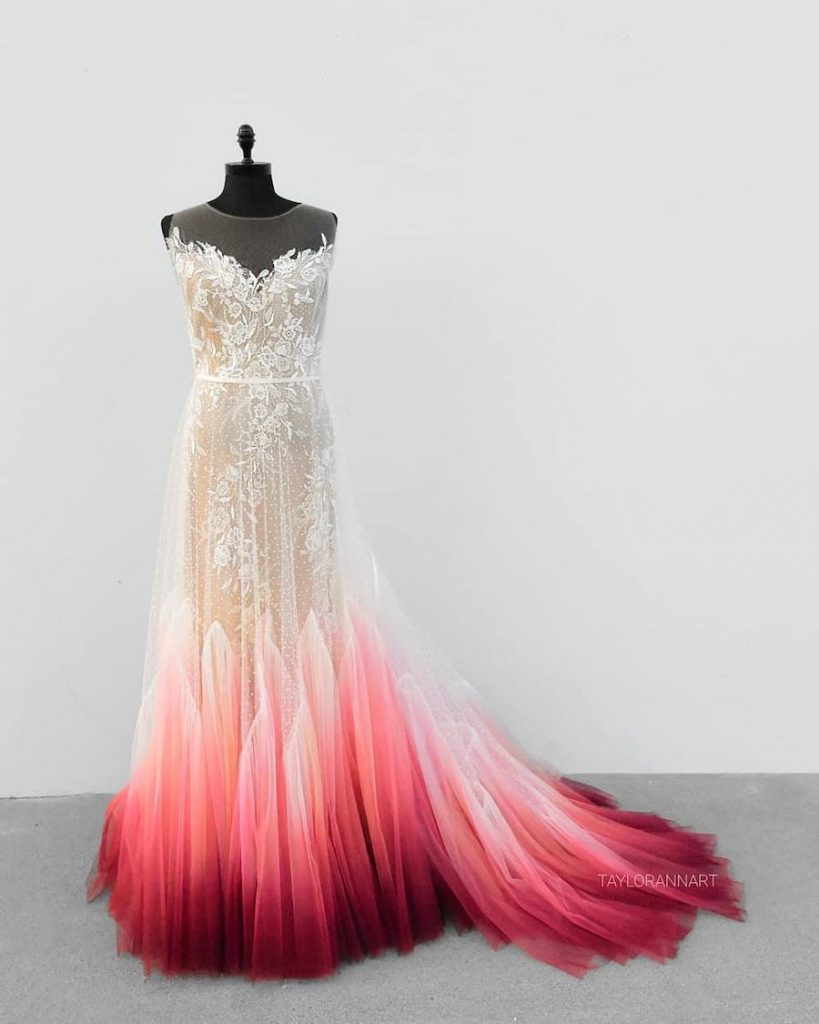 #4 | Artist Starts A Business Creating Unique Colorful Wedding Gowns | Zestradar