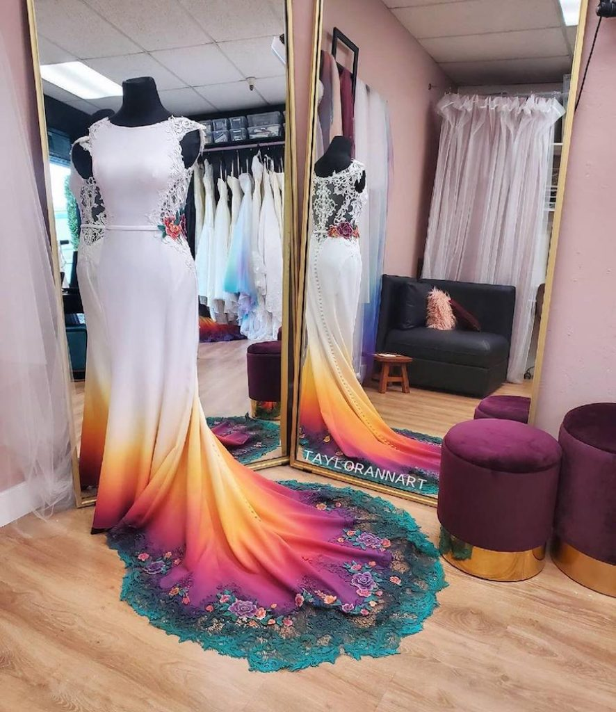 #5 | Artist Starts A Business Creating Unique Colorful Wedding Gowns | Zestradar