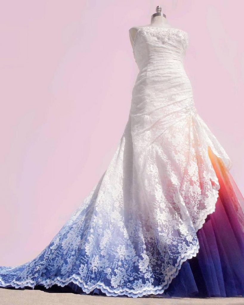 #6 | Artist Starts A Business Creating Unique Colorful Wedding Gowns | Zestradar