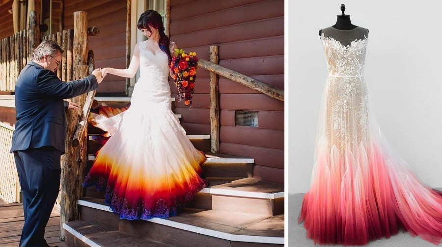 Artist Starts A Business Creating Unique Colorful Wedding Gowns | Zestradar