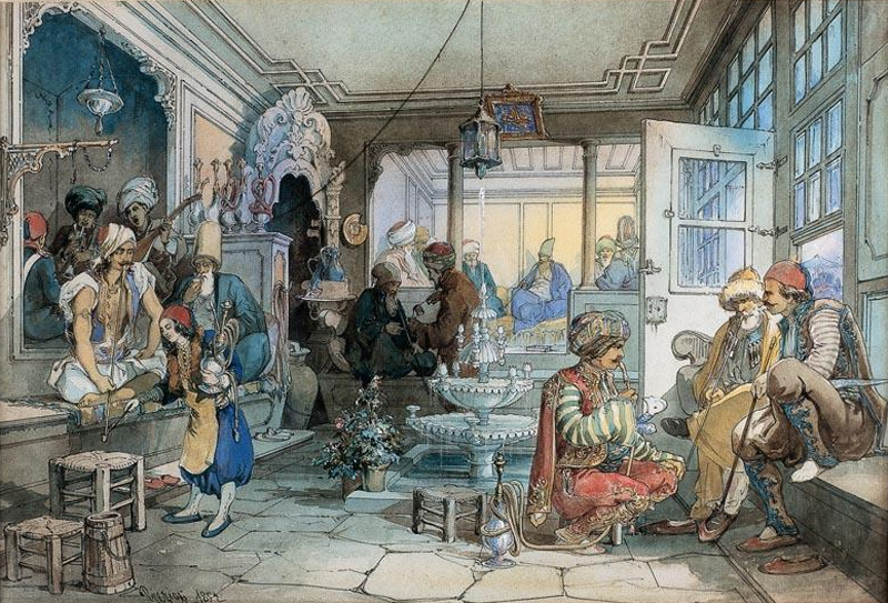 Coffee houses   Sacred and Forbidden: The Fascinating History of Coffee   Zestradar