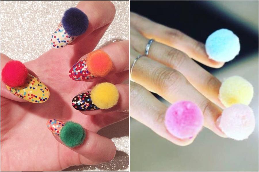 Pom Pom Nail Art | The Craziest Nail Art Trends | Zestradar