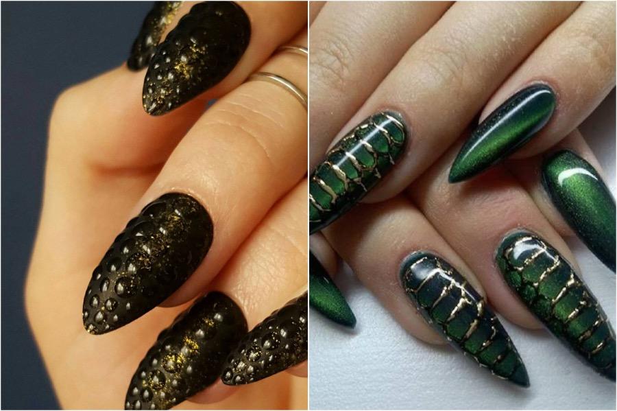 Reptile Nail Art | The Craziest Nail Art Trends | Zestradar