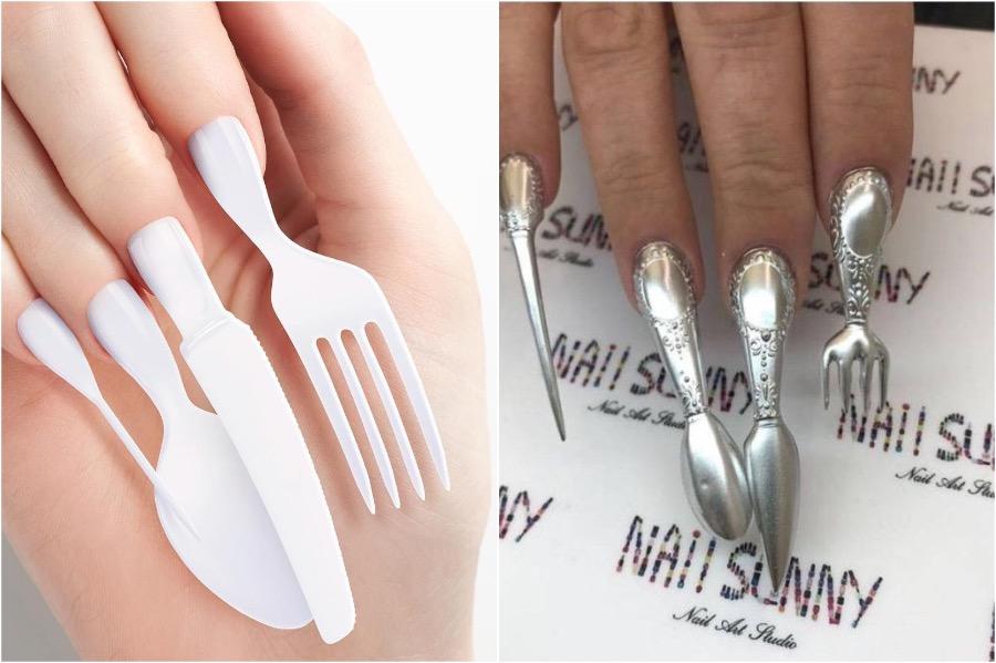 Cutlery Nail Art | The Craziest Nail Art Trends | Zestradar