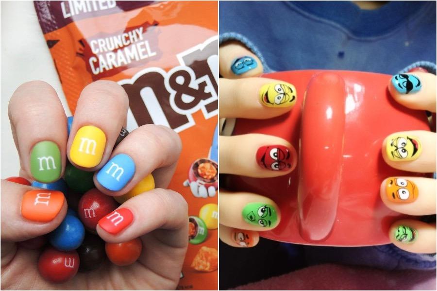 M&M's Nail Art | The Craziest Nail Art Trends | Zestradar