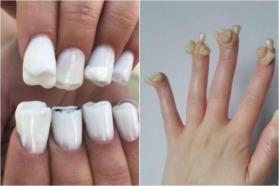 Tooth Nail Art | The Craziest Nail Art Trends | Zestradar