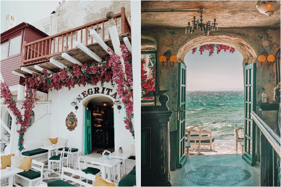 Negrita, Mykonos | The 8 Most Beautiful Cafes In Greece | Zestradar