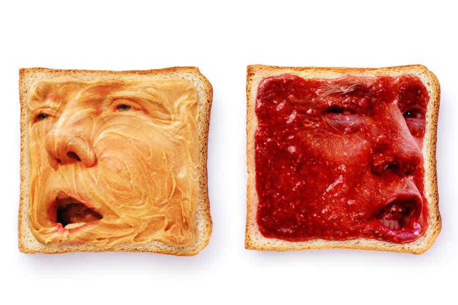 Two Faced sandwich | Trump As America's Favourite Breakfast | Zestradar