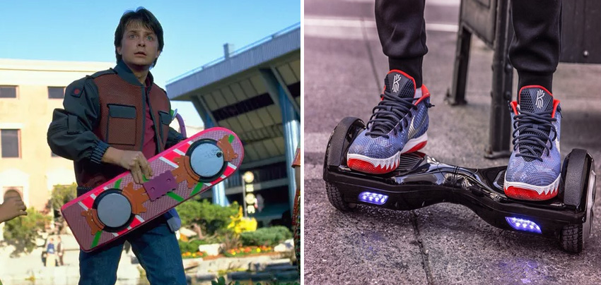 Hoverboard | 10 Fictional Scientific Inventions That Went From Screen to Real Life | Zestradar