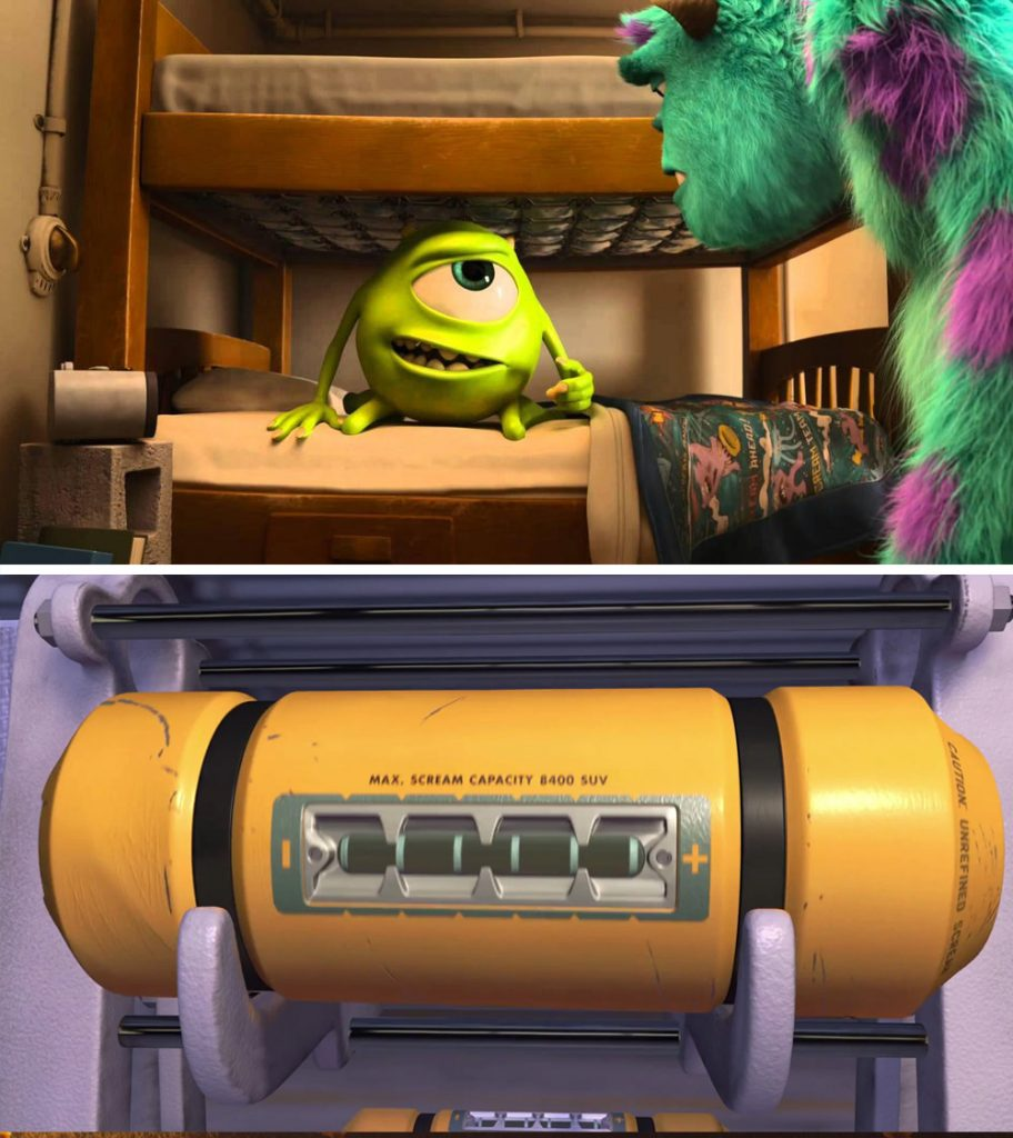 Monsters Inc. | 12 Really Cool Details in Pixar Movies No One Spotted Until Now | Zestradar