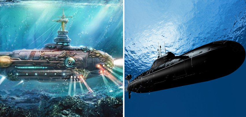 Submarine | 10 Fictional Scientific Inventions That Went From Screen to Real Life | Zestradar