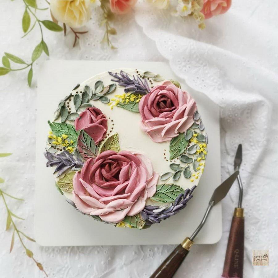 #1 | Шедевры кондитерского искусства: торты с цветами из масляного крема | Zestradar