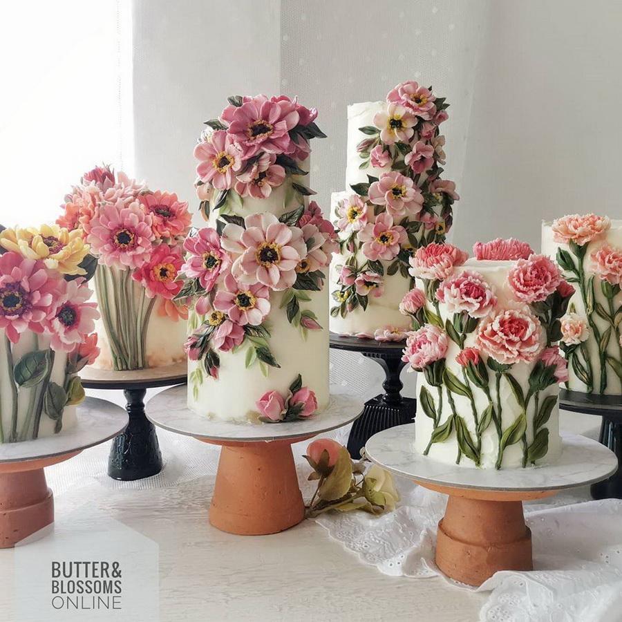 #6 | Шедевры кондитерского искусства: торты с цветами из масляного крема | Zestradar
