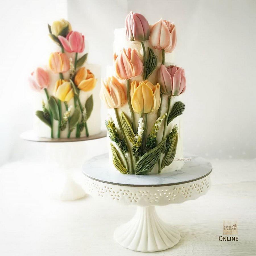 #9 | Шедевры кондитерского искусства: торты с цветами из масляного крема | Zestradar