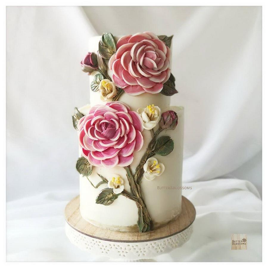 #12 | Шедевры кондитерского искусства: торты с цветами из масляного крема | Zestradar