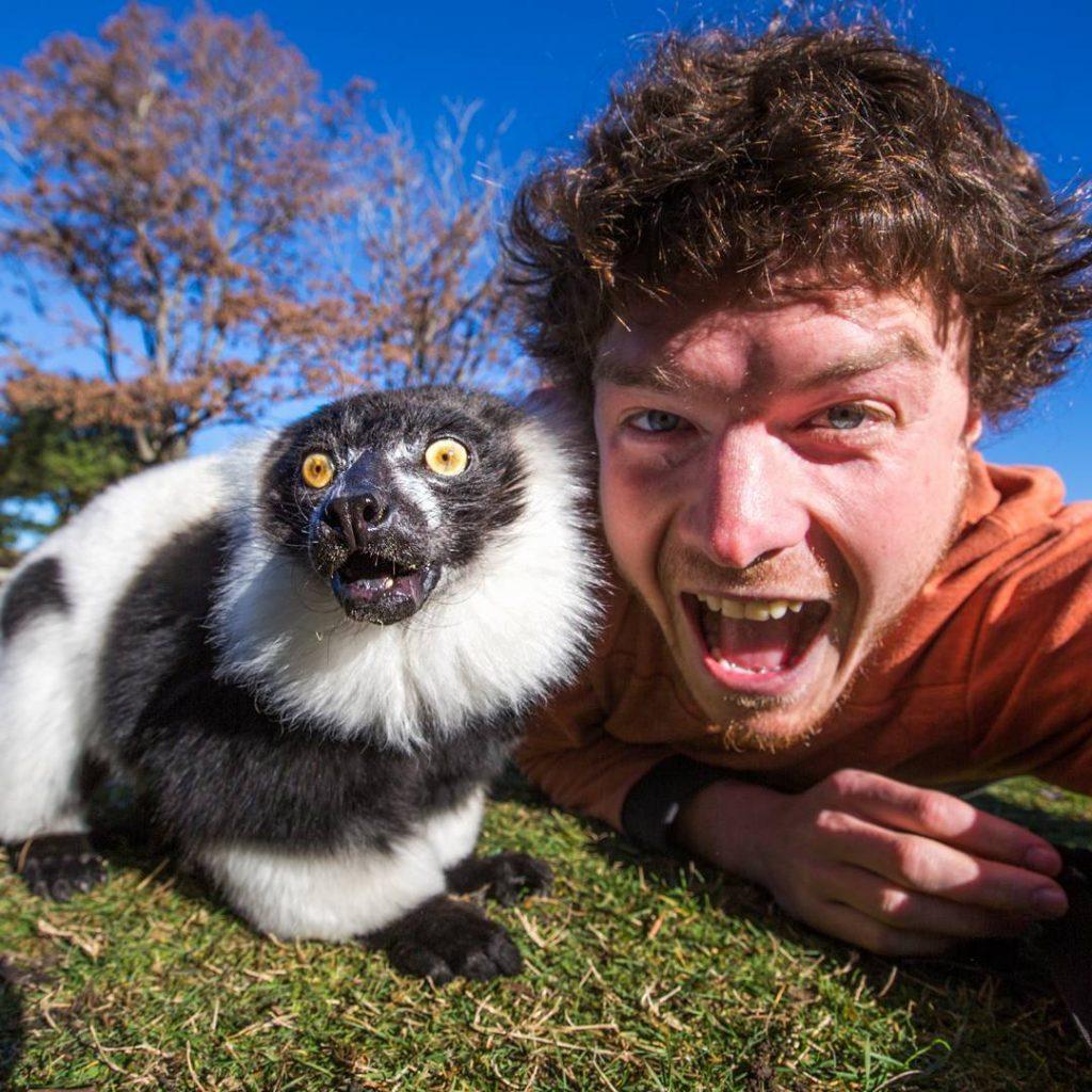 #12 | Аллан Диксон и его невероятные селфи с дикими животными | Zestradar