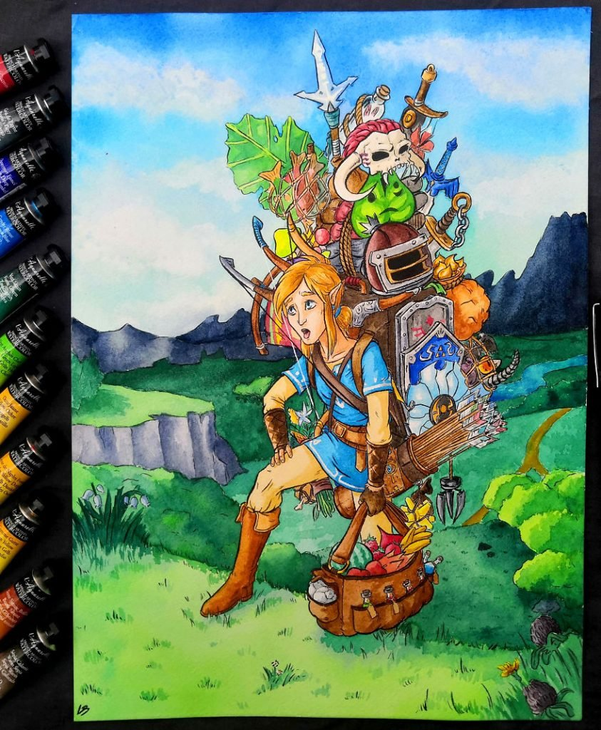 French Artist Shows Video Game Characters' Overwhelming Inventory! | Brain Berries