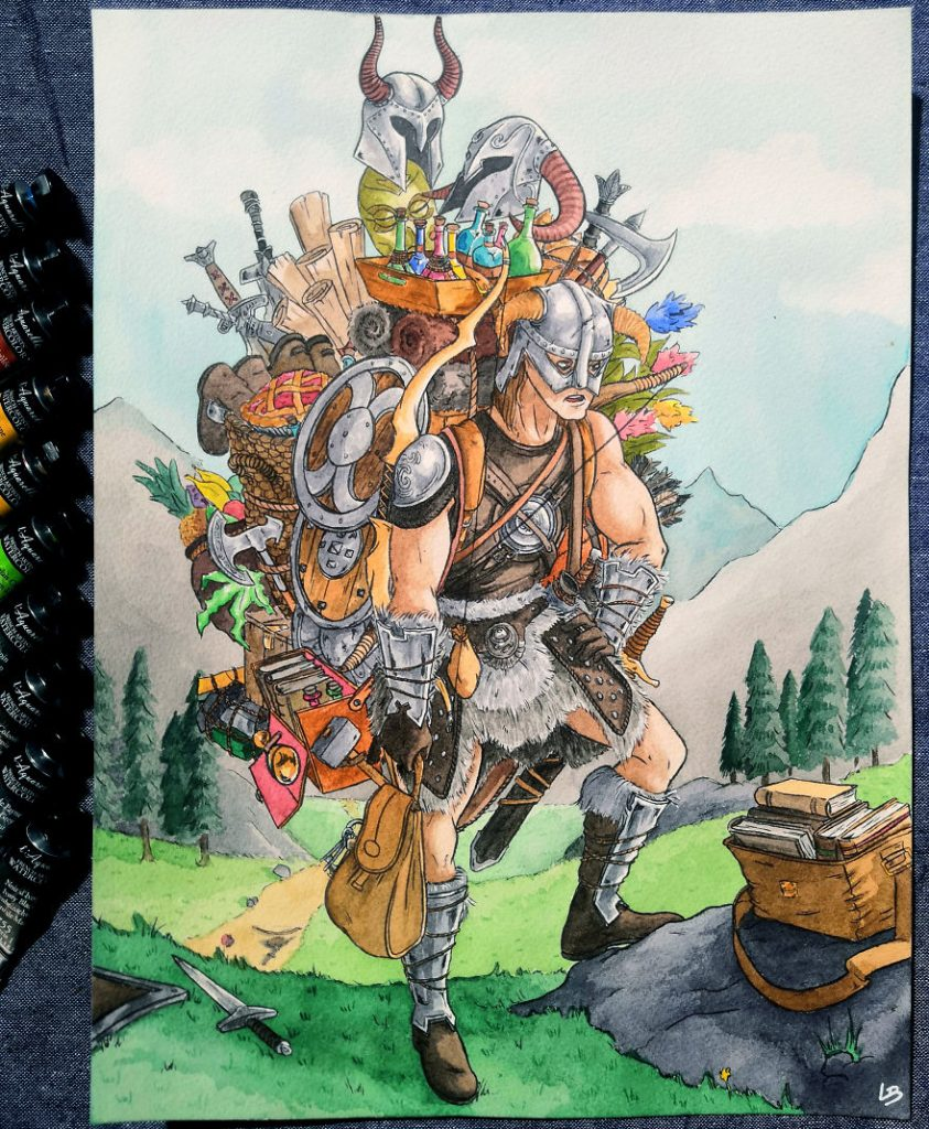 French Artist Shows Video Game Characters' Overwhelming Inventory! #2 | Brain Berries