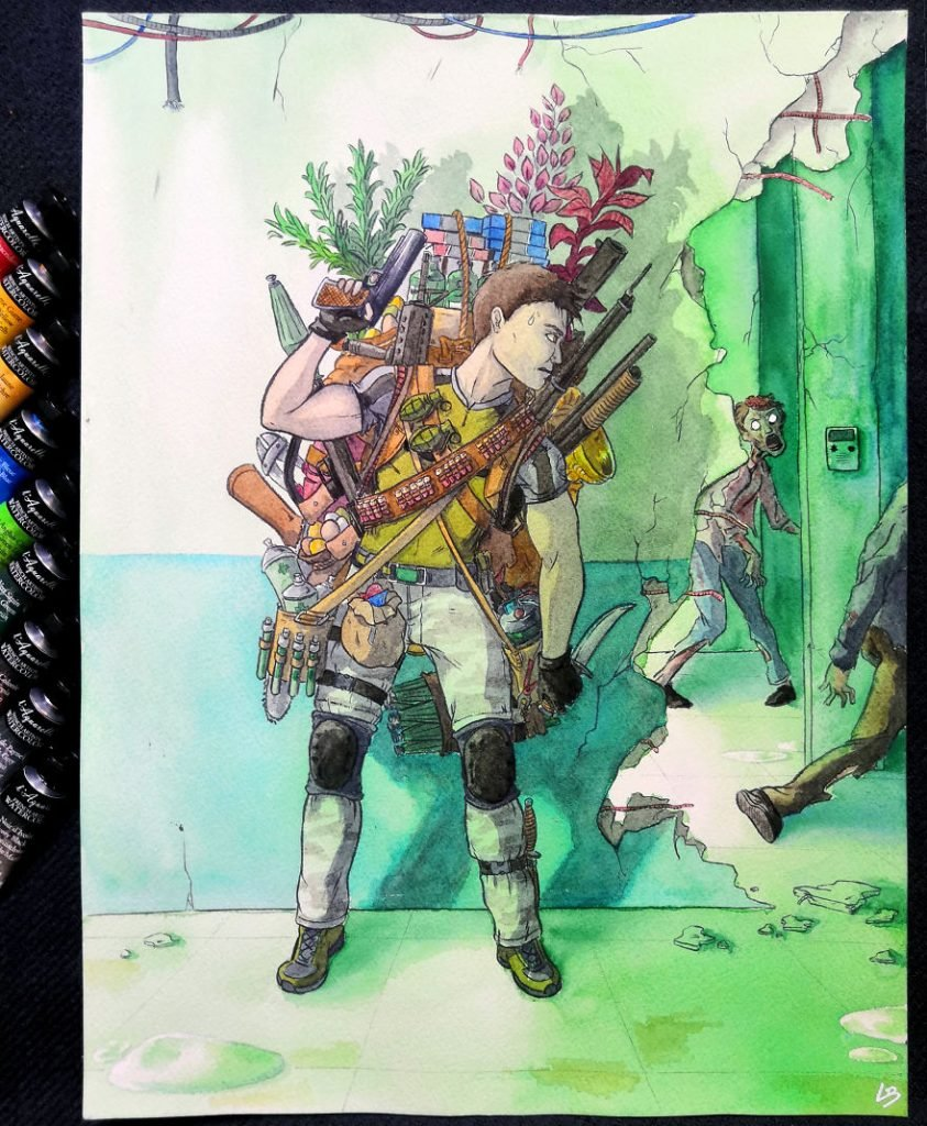 French Artist Shows Video Game Characters' Overwhelming Inventory! #3 | Brain Berries