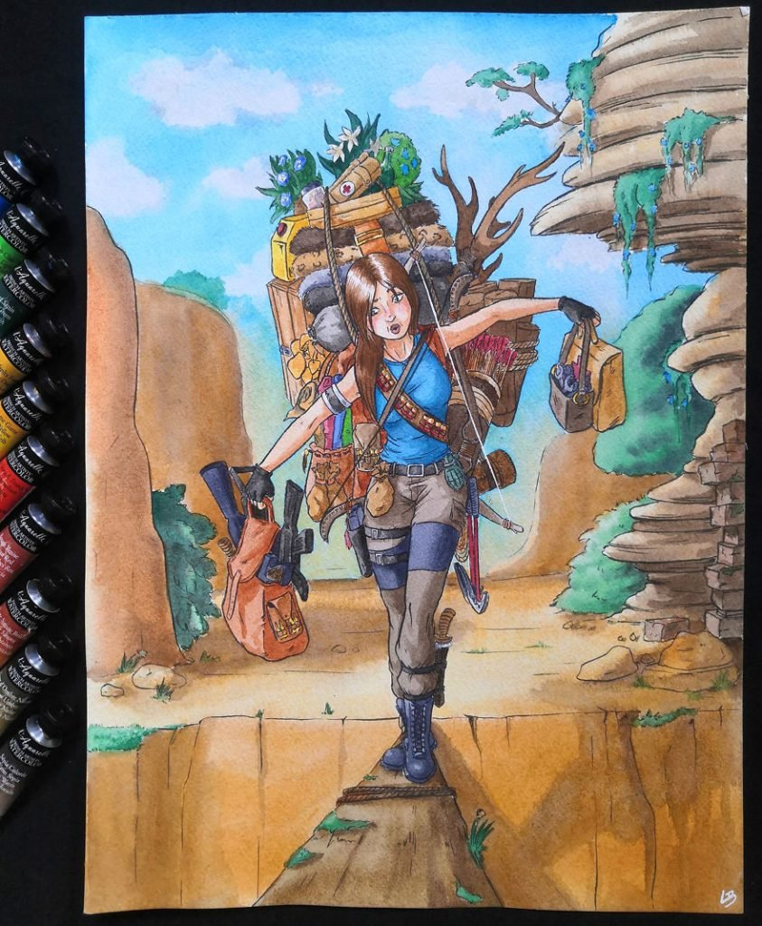 French Artist Shows Video Game Characters' Overwhelming Inventory! #4 | Brain Berries
