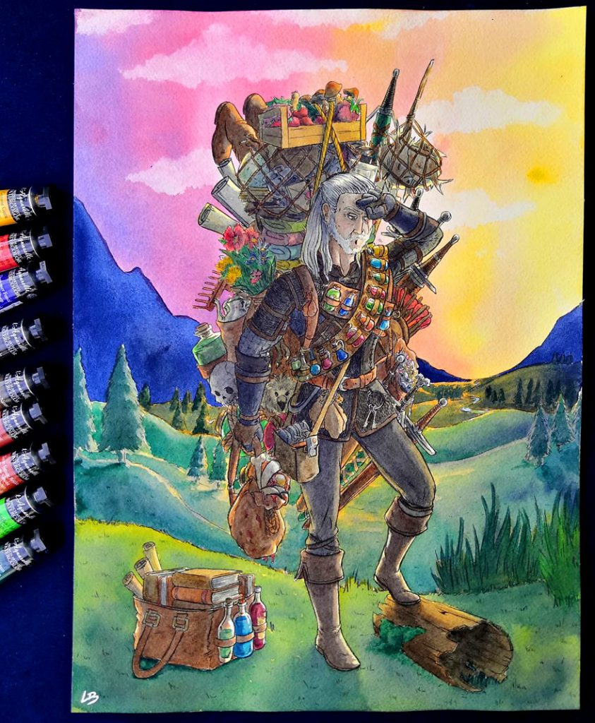French Artist Shows Video Game Characters' Overwhelming Inventory! #5 | Brain Berries