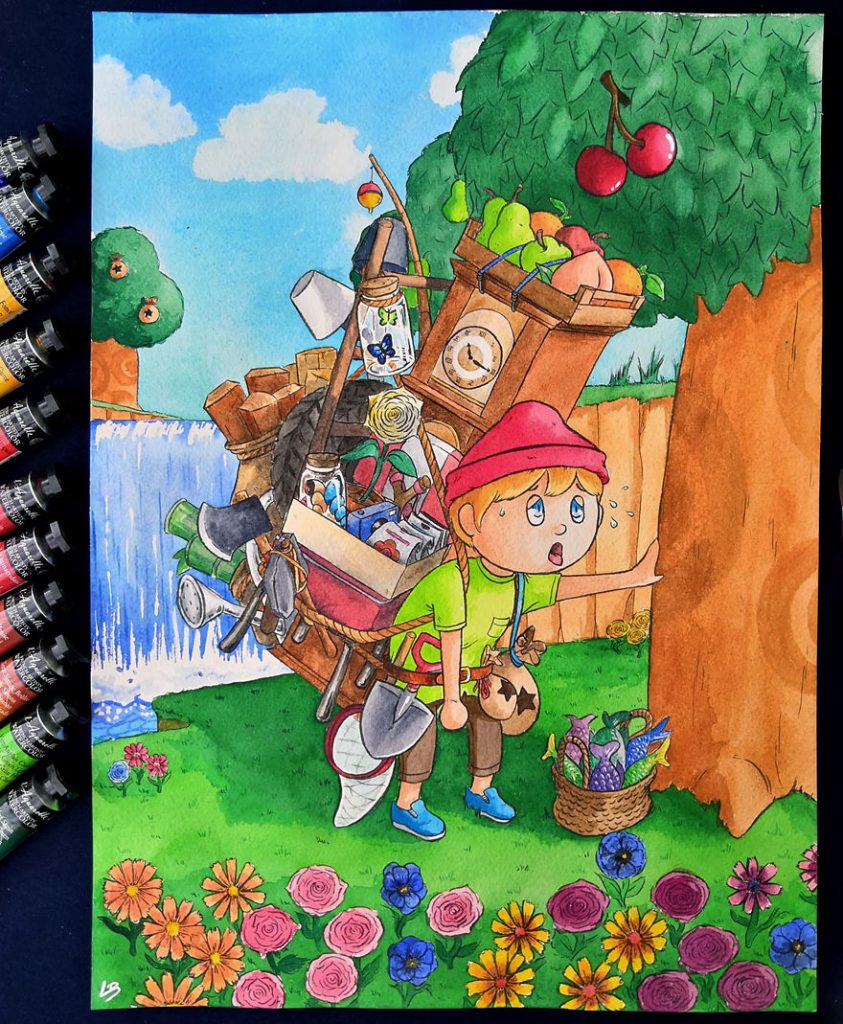French Artist Shows Video Game Characters' Overwhelming Inventory! #6 | Brain Berries