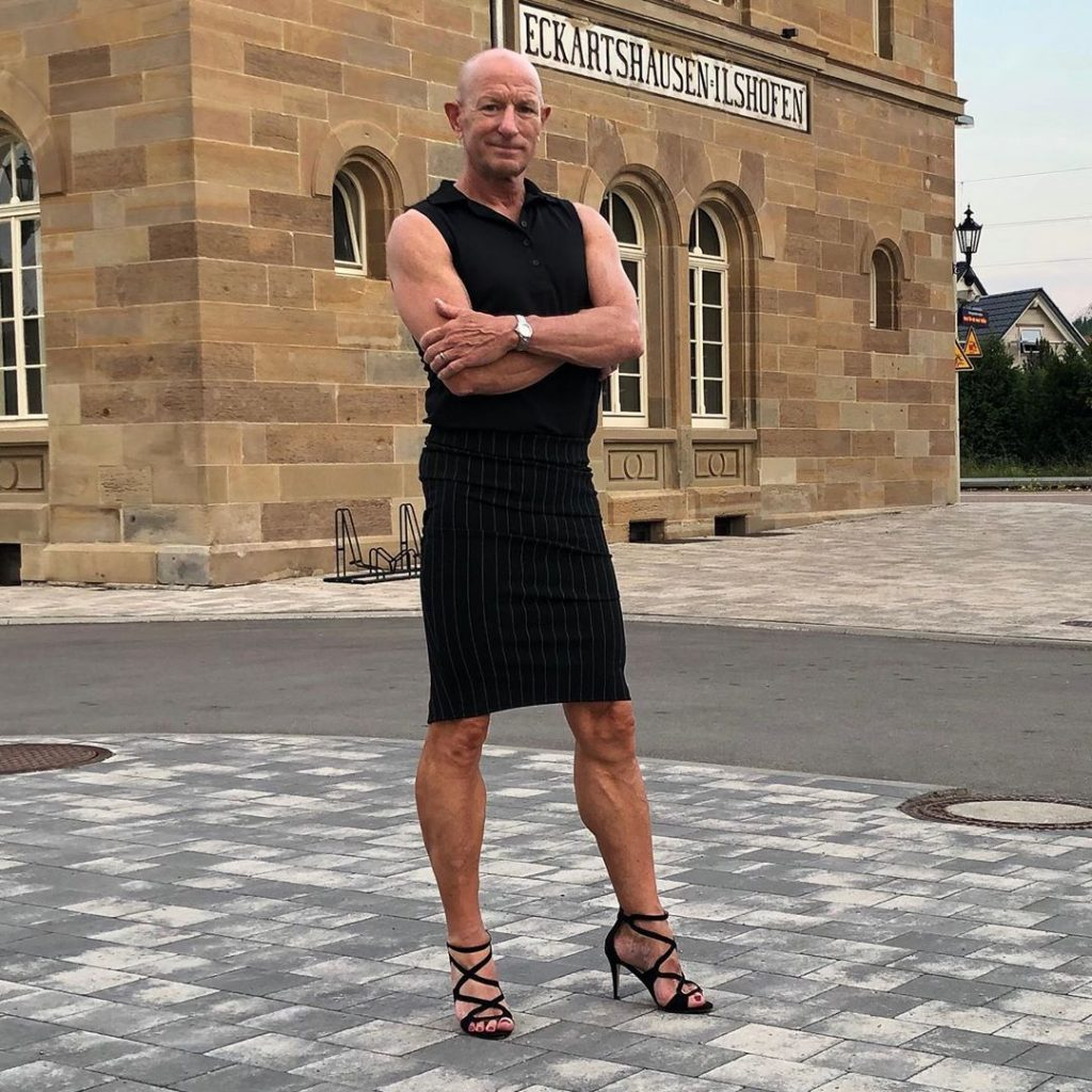 #10 | 61-Year-Old Man Wears Skirts and High Heels To Work and Looks Fantastic! | Zestradar