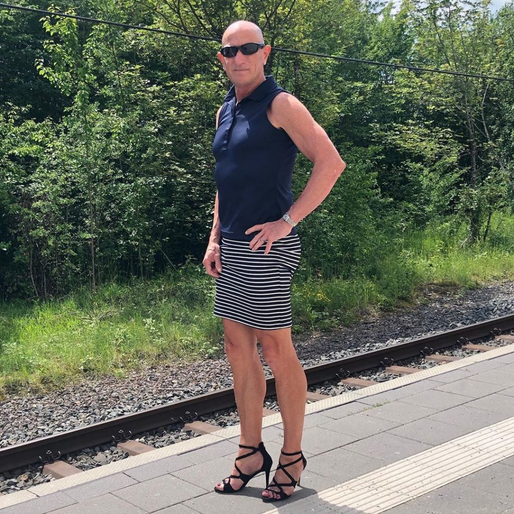 #12 | 61-Year-Old Man Wears Skirts and High Heels To Work and Looks Fantastic! | Zestradar