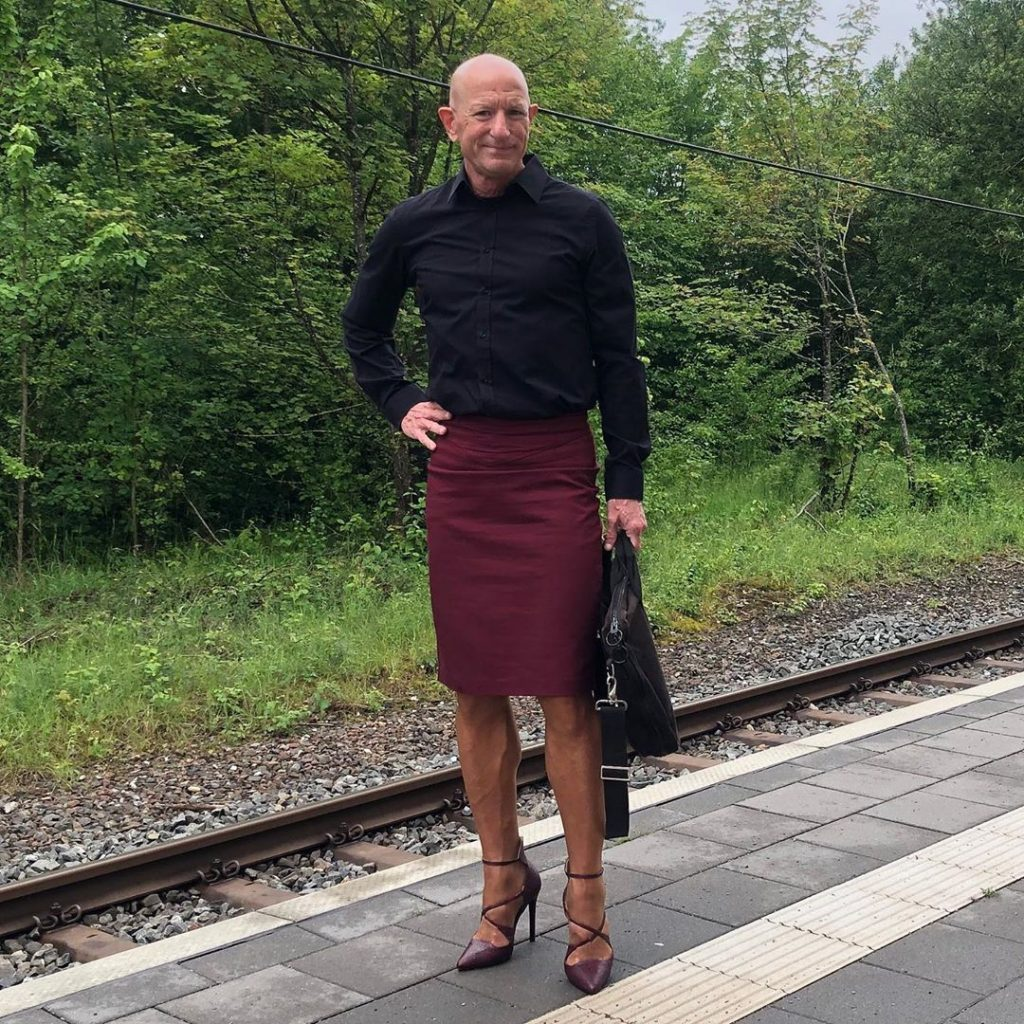 #6 | 61-Year-Old Man Wears Skirts and High Heels To Work and Looks Fantastic! | Zestradar