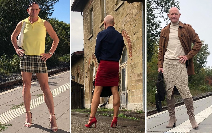 61-Year-Old Man Wears Skirts and High Heels To Work and Looks Fantastic! | Zestradar