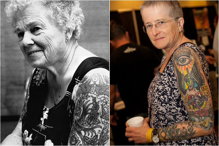 #7 | Badass Tattooed Elderly Who Look Rad AF | Zestradar