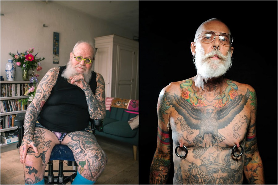 #9 | Badass Tattooed Elderly Who Look Rad AF | Zestradar