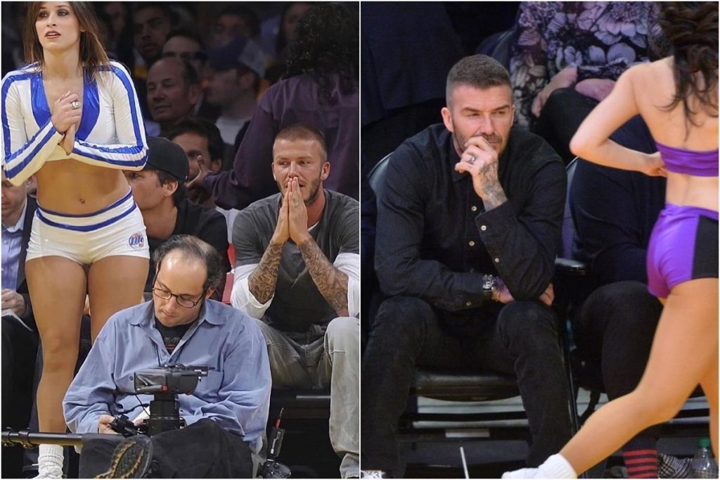 David Beckham   Celebrities Gawking At Cheerleaders   Zestradar