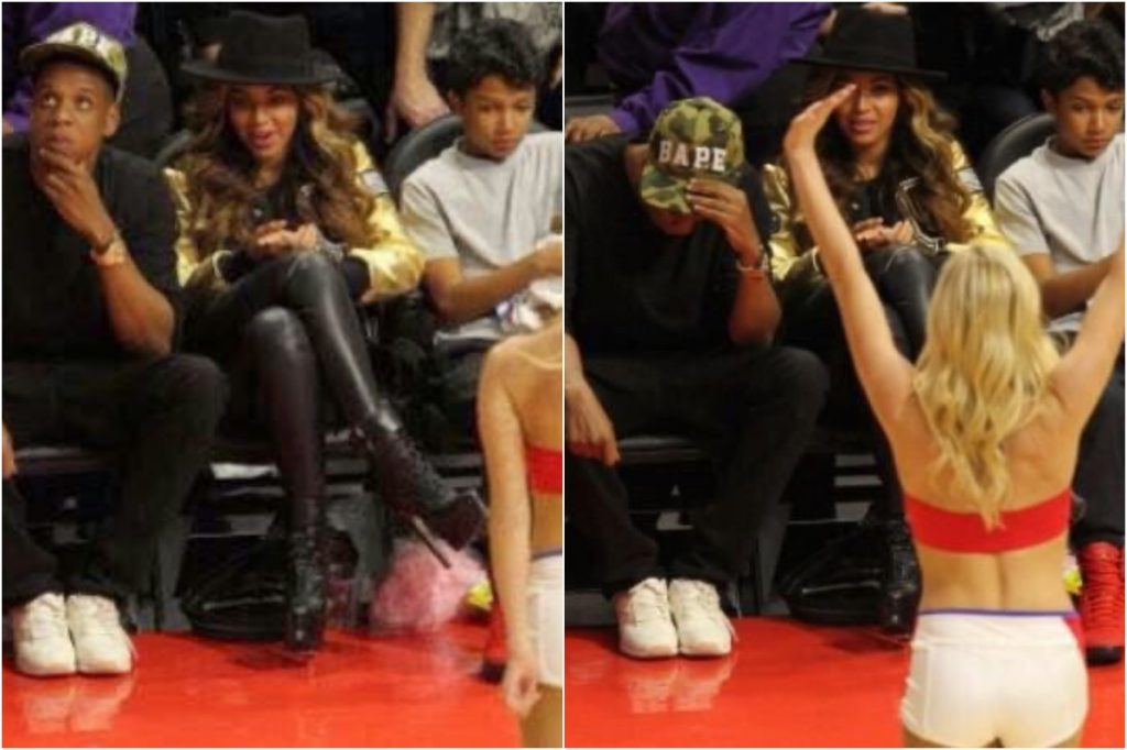Jay-Z   Celebrities Gawking At Cheerleaders   Zestradar