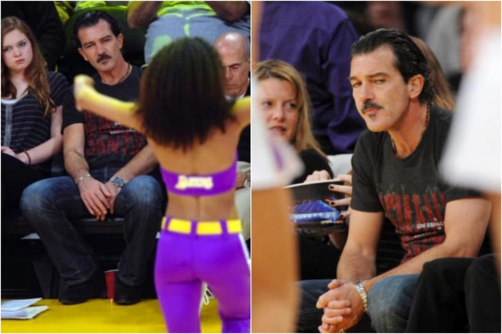 Antonio Banderas   Celebrities Gawking At Cheerleaders   Zestradar