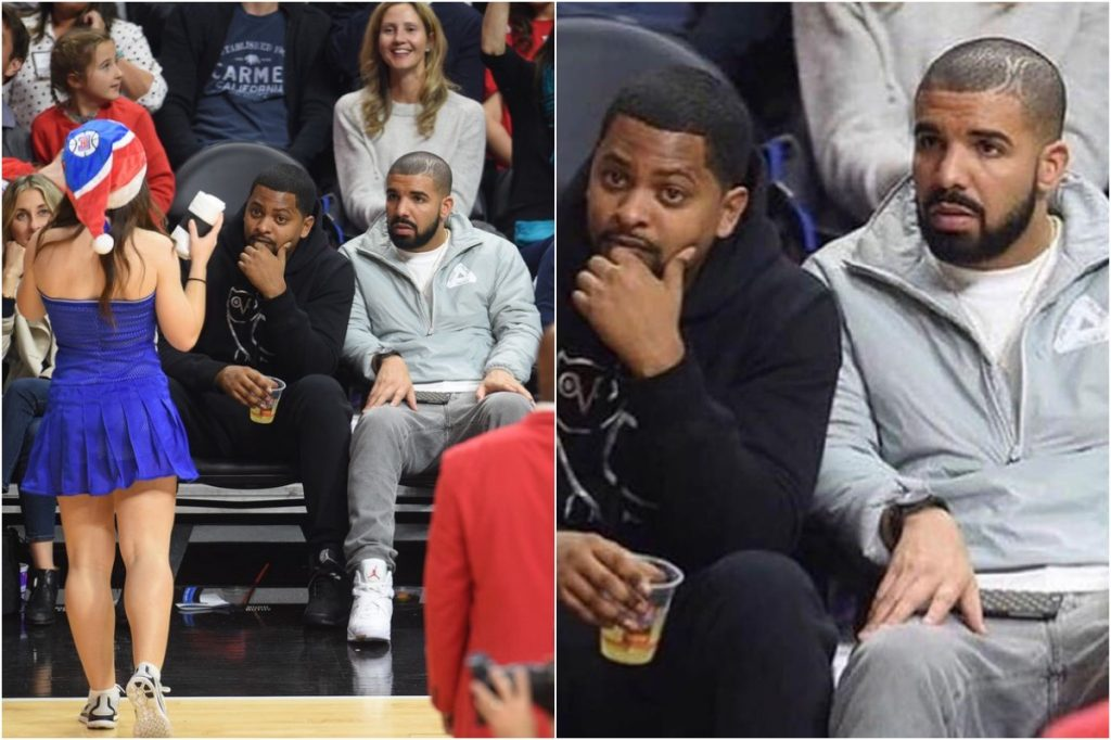Drake   Celebrities Gawking At Cheerleaders   Zestradar