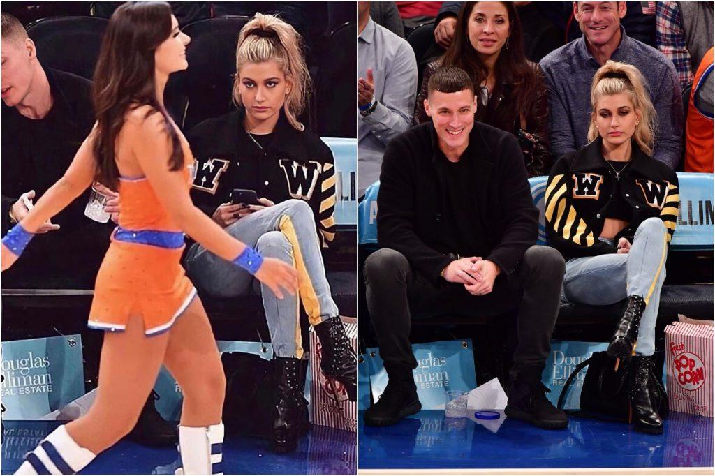 Hailey Baldwin   Celebrities Gawking At Cheerleaders   Zestradar