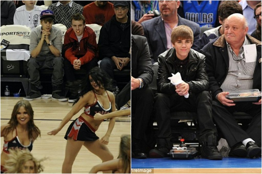 Justin Bieber   Celebrities Gawking At Cheerleaders   Zestradar