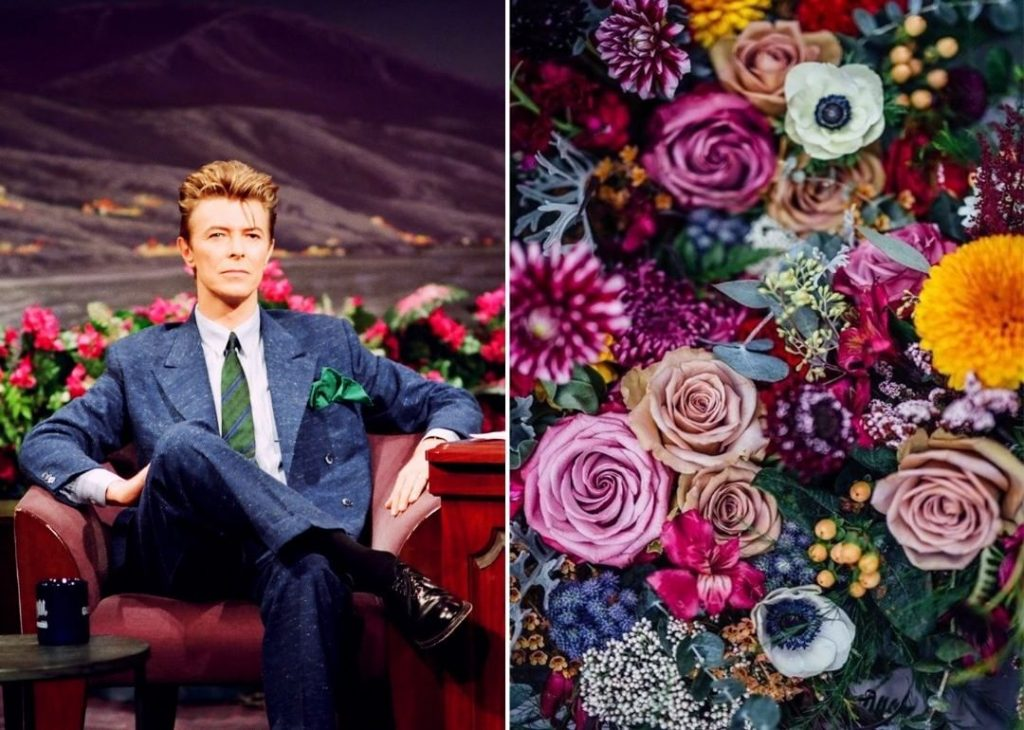 #7 | David Bowie As Flowers | Zestradar