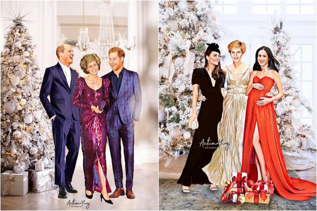 #1 | Unreal Royal Family Illustrations With Princess Diana | Zestradar