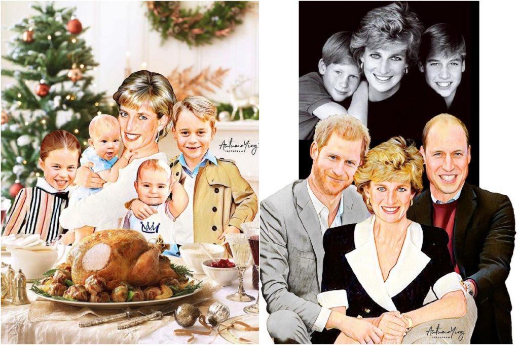 #2 | Unreal Royal Family Illustrations With Princess Diana | Zestradar