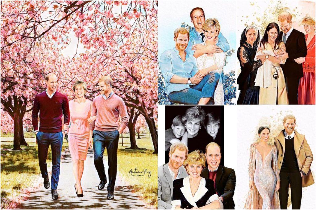 #3 | Unreal Royal Family Illustrations With Princess Diana | Zestradar