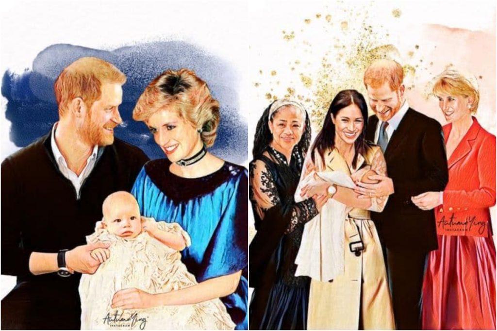 #5 | Unreal Royal Family Illustrations With Princess Diana | Zestradar