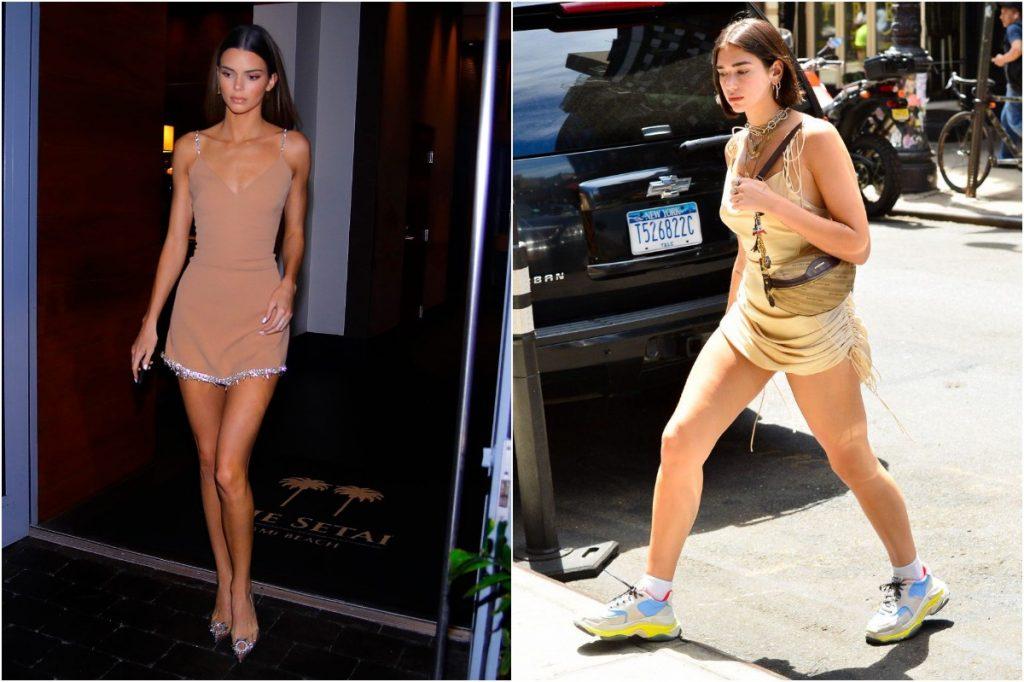 Tan Dress | Whose Style Do You Prefer: Kendall Jenner vs Dua Lipa | Zestradar