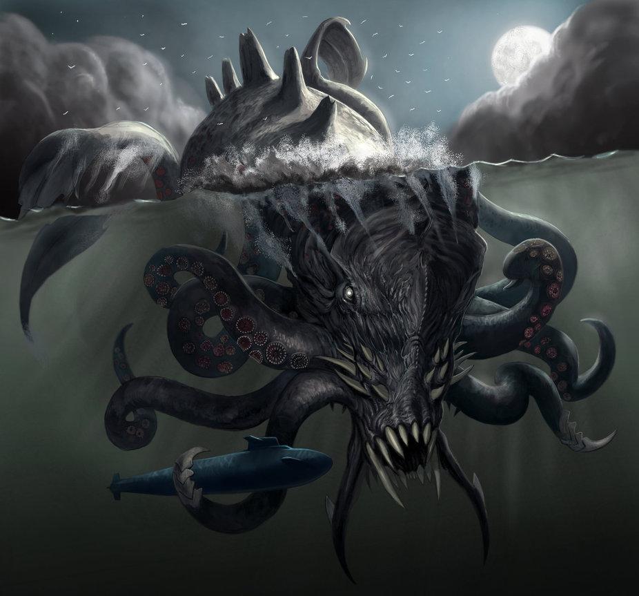 Hafgufa | 7 Creepiest Creatures from Scandinavian Legends | Zestradar