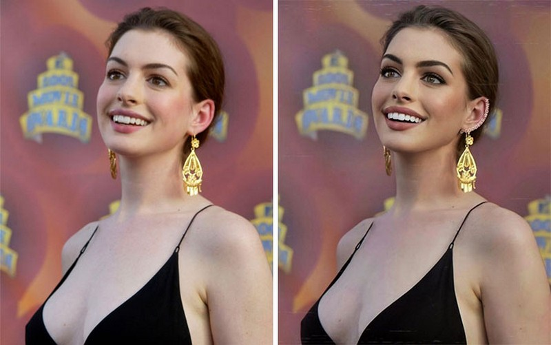 Anne Hathaway | Goddess.Women Retouches Celebs and Makes Them Look Like Influencers | Zestradar