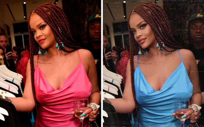 Rihanna | Goddess.Women Retouches Celebs and Makes Them Look Like Influencers | Zestradar