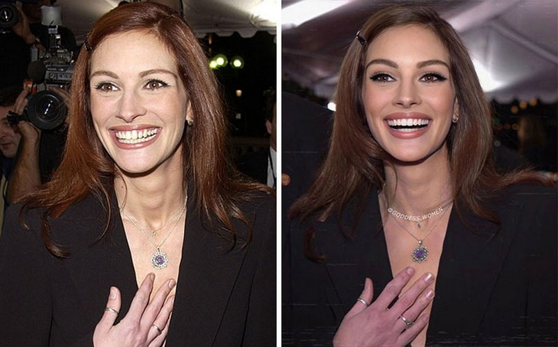 Julia Roberts | Goddess.Women Retouches Celebs and Makes Them Look Like Influencers | Zestradar