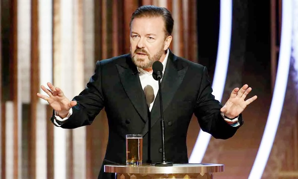 Ricky Gervais | 10 Celebrities Who Have Impacted Society Through Their Philanthropy | Zestradar