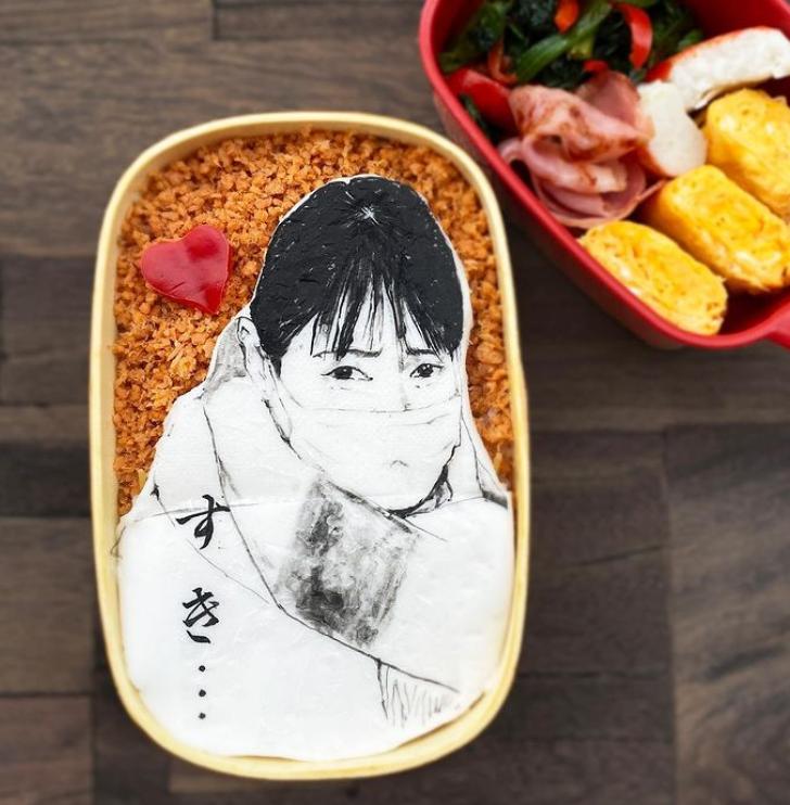 #10 | Японская фуд-художница создаёт необычные съедобные портреты | Zestradar